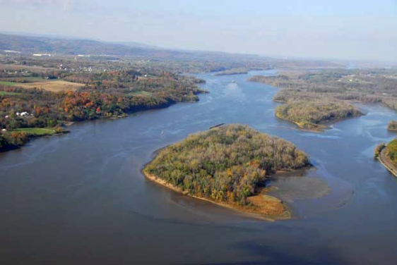 Hudson River, Stockport - Aerial View