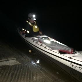 Set for night kayaking