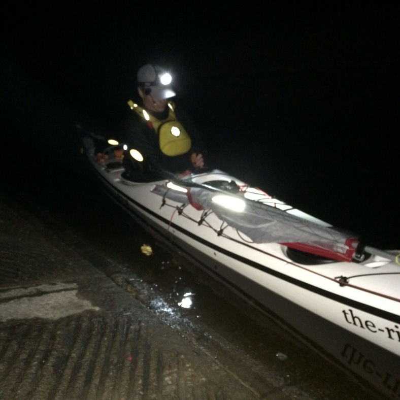 Set for night kayaking